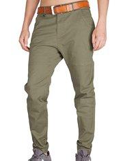 Pantalón para hombre chino casual verde militar