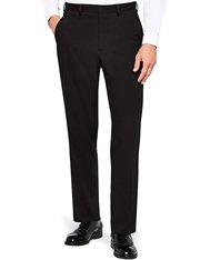 Pantalones de vestir negros regular-fit para hombre