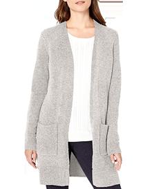 Suéter largo de mujer gris