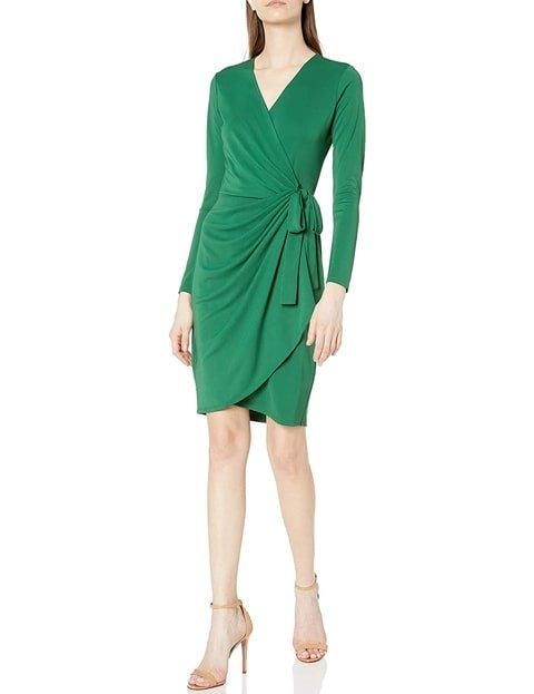 Vestido verde esmeralda corto casual