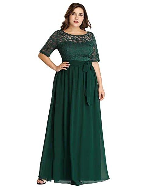 Vestido verde esmeralda corte imperio