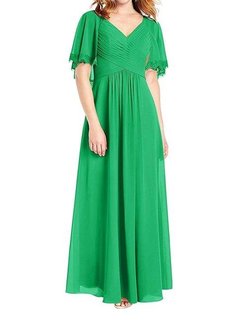 Vestido verde esmeralda largo casual