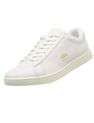 Zapatillas blanca de lona Lacoste para mujer