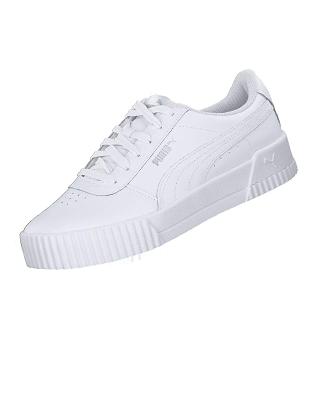 Zapatillas deportivas blancas Puma de mujer