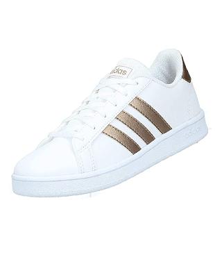 Zapatillas deportivas blancas de mujer Adidas Grand Court K