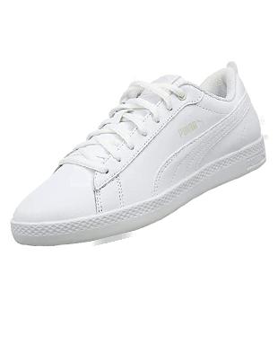 Zapatillas deportivas blancas de mujer Puma Smash