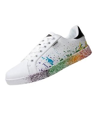 Zapatillas deportivas blancas de mujer diseño spray