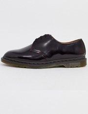 Zapatos con 3 ojales en rojo cereza para hombre